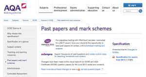 Click to download other past papers from the AQA website
